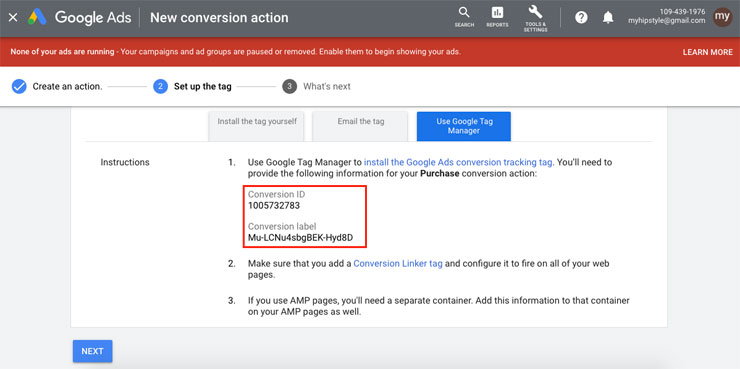 value for Google Tag Manager